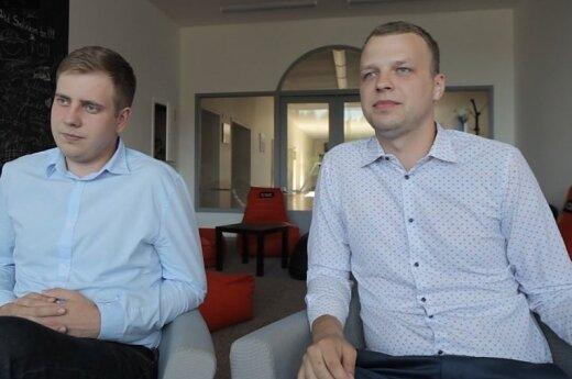Benas Garbinčius and Tadas Kaminskas. Photo VGTU