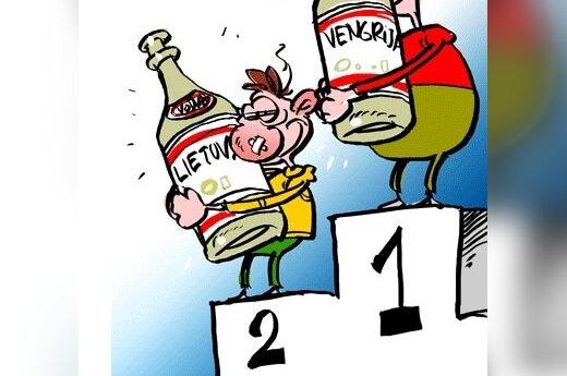 Литва на четвертом месте по количеству выпитого алкоголя