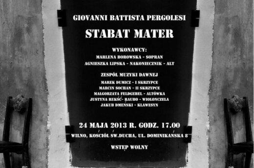 """Govanni Battista Pergolesi """"STABAT MATER"""""""