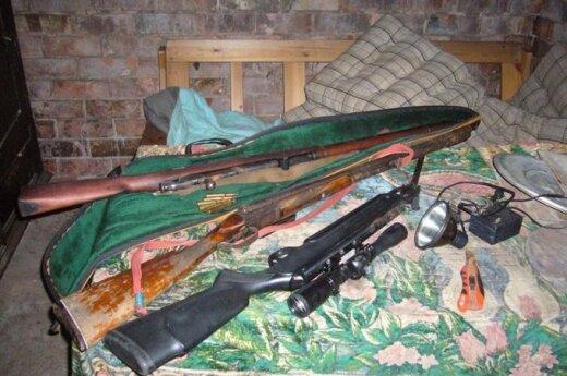 Brakonieriaus šautuvų arsenalas