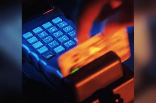 Kreditinė kortelė, bankas, pinigai