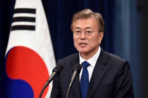 Pietų Korėjos prezidentas įspėja dėl galimų susirėmimų su Šiaurės Korėja