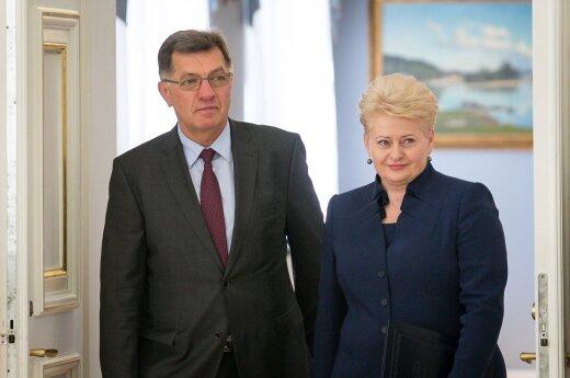 Algirdas Butkevičius and Dalia Grybauskaitė