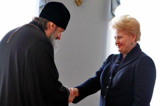 Archbishop Inokentij and President Grybauskaitė
