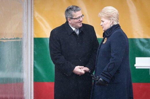 Grybauskaitė: Jesteśmy silnym narodem. Komorowski: Idziemy w tym samym kierunku