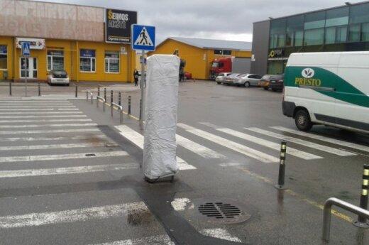 Šiaurės miestelyje dviratininko laukė staigmena