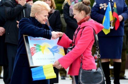 Цвет украинского флага напомнил президенту Литвы флаг Евросоюза