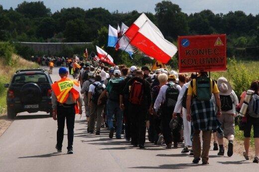 XXV Międzynarodowa Pielgrzymka Piesza Suwałki – Wilno wkracza na Litwę. foto: suwalki24.pl