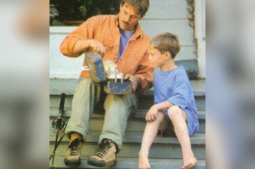 Tėvas su vaiku