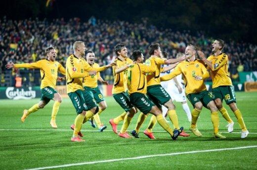 Football match; Lithuania - Estonia