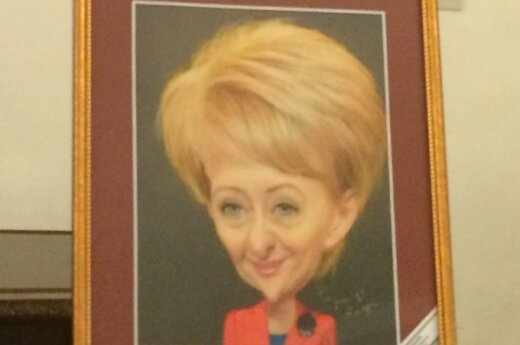 Dalios Grybauskaitės karikatūra