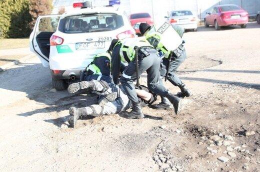 Polscy policjanci w Litewskiej Szkole Policji