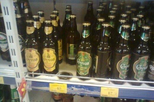 Lentynose sprogstantys alaus buteliai – karštos vasaros pasekmės?