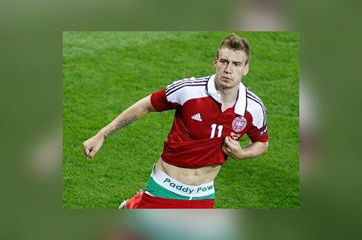 Датский футболист разместил рекламу на трусах вопреки предписаниям УЕФА