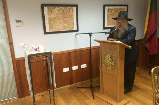 Rabbi Herschel Gluck. Photo courtesy of the Lithuanian Embassy in London