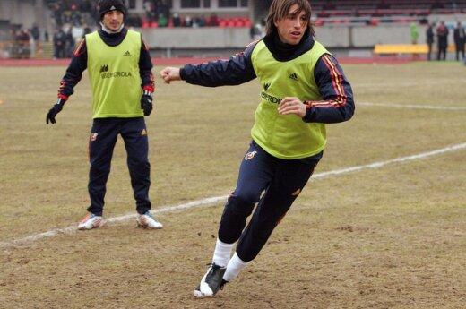 Ispanijos futbolo rinktinės treniruotė