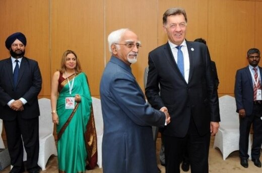 Vice President of India Mohammed Hamid Ansari and Prime Minister of Lithuania Algirdas Butkevičius