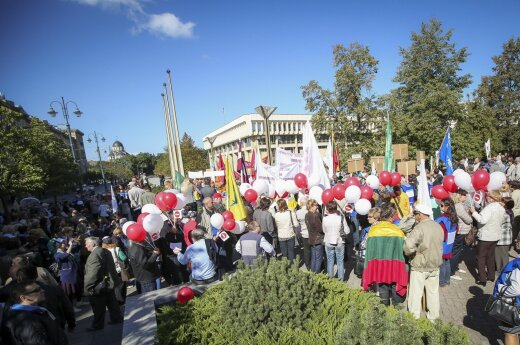 Meeting in the front of the Seimas