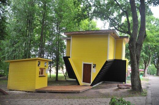 В Друскиникай появился перевернутый дом
