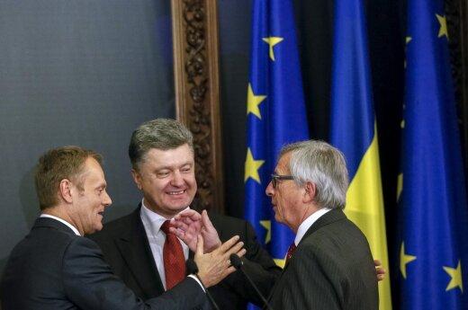 Donaldas Tuskas, Petro Porošenka,  Jeanas Claude'as Juncker'is