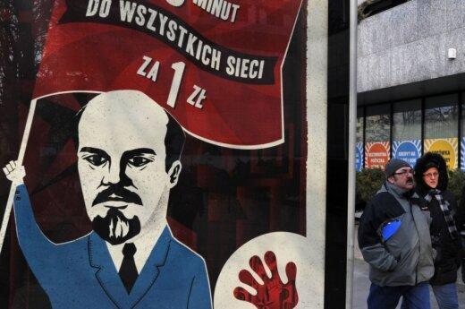 Lenkijoje kilo pasipiktinimas dėl reklamos su Lenino atvaizdu