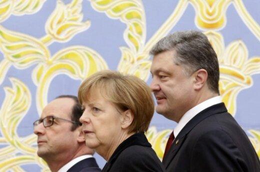 Francois Hollande'as, Angela Merkel, Petro Porošenka