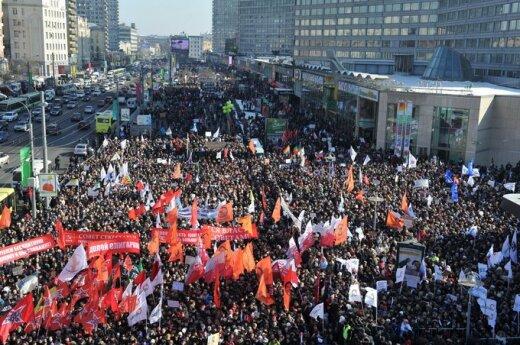 Maskvoje prieš V.Putino valdymą protestuoja tūkstančiai žmonių