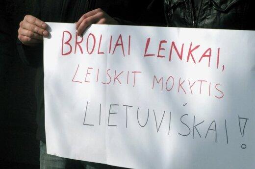 Пикет у посольства Польши: братья- поляки, позвольте учиться на литовском