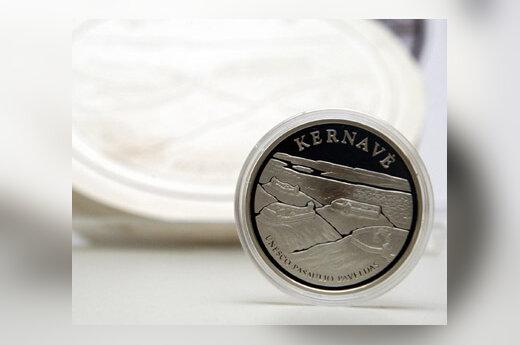 Lietuvos bankas išleido Kernavei skirtą monetą