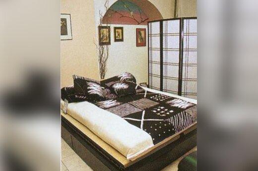 Japoniško stiliaus miegamasis