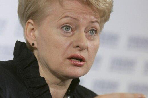 Д.Грибаускайте не комментирует план снижения пособий