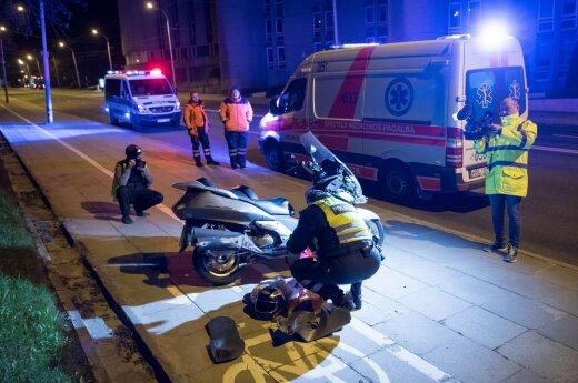 В Вильнюсе поздно вечером погиб водитель мотороллера