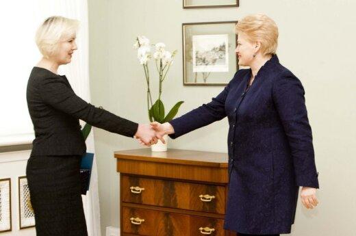 Diana Korsakaitė ir Dalia Grybauskaitė