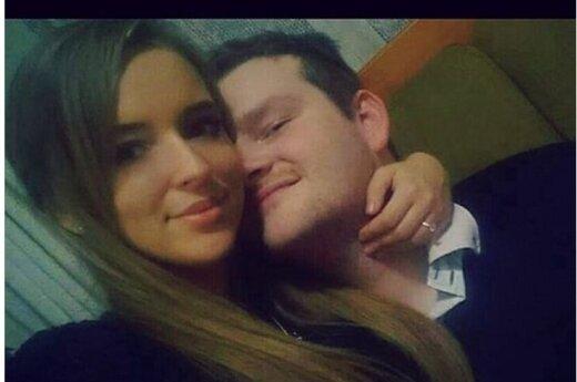 Monika Šalčiūtė su vaikinu