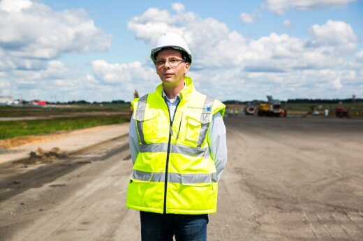 Olaf Martens at the Vilnius Airport