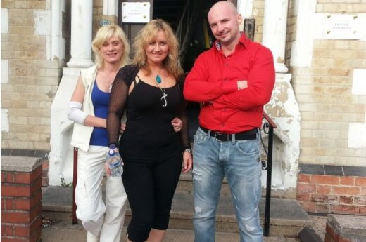 Nuotraukoje iš kairės į dešinę: renginio organizatoriai  Marina, Irena ir Eduardas