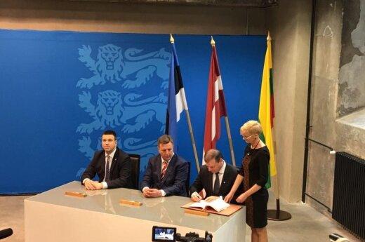 Baltic PMs in Tallinn signed an agreement on the development of the railway Rail Baltica