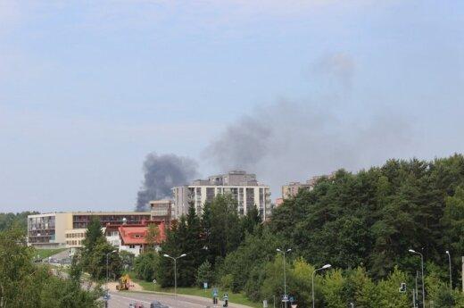 Bajorų kalvose kilo gaisras