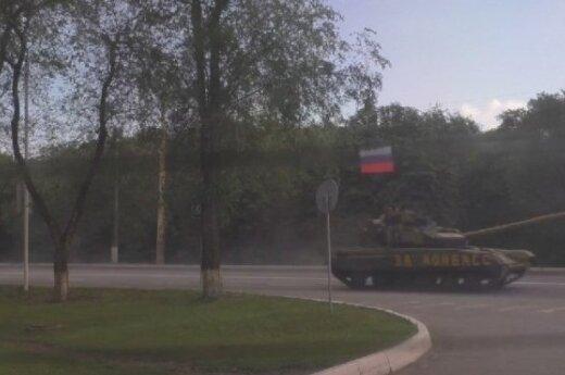 Praneša Luhansko srityje pastebėję Rusijos karinės technikos koloną