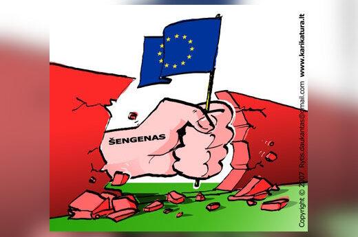 Šengenas, karikatūra