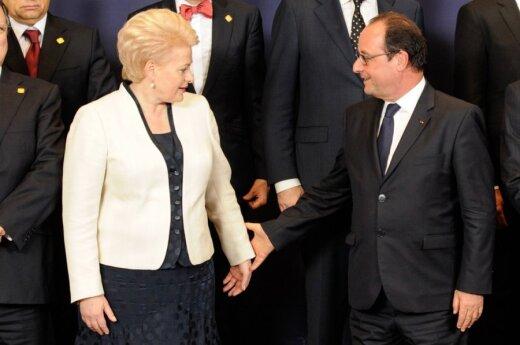 Dalia Grybauskaitė and François Hollande