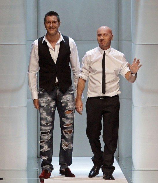 Знаменитых итальянских модельеров Доменико Дольче и Стефано Габбана