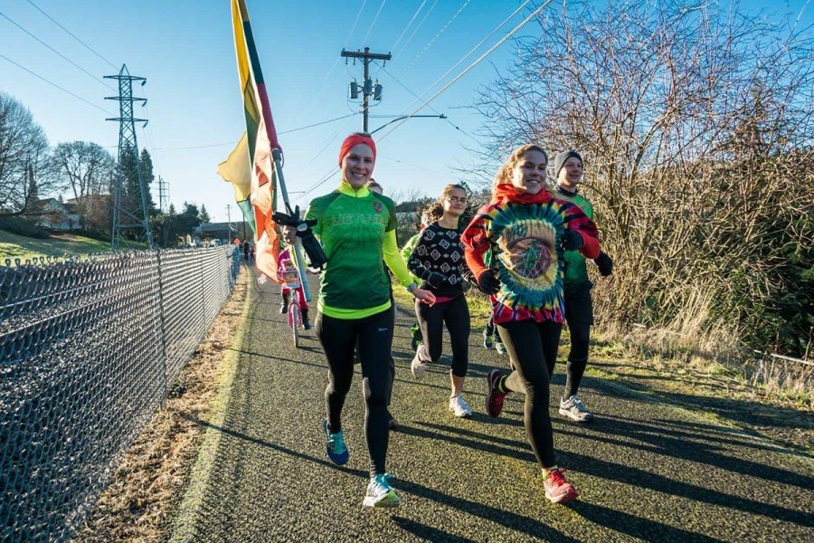 Lithuanian runners in Portland, Oregon