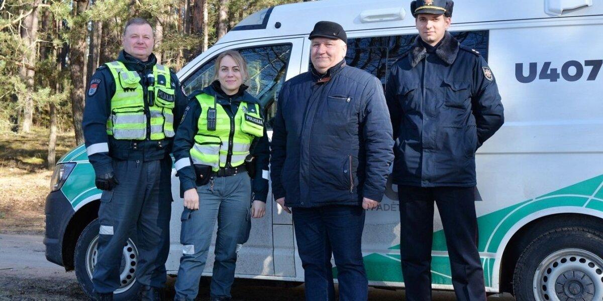 Aplinkosaugininkai kartu su policijos pareigūnais