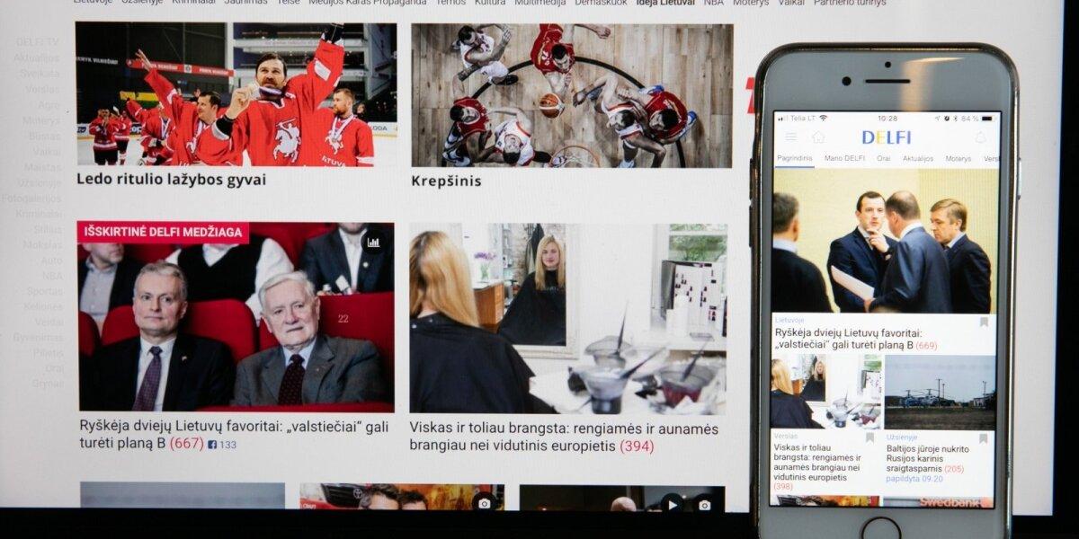 DELFI – skaitomiausias naujienų portalas Lietuvoje