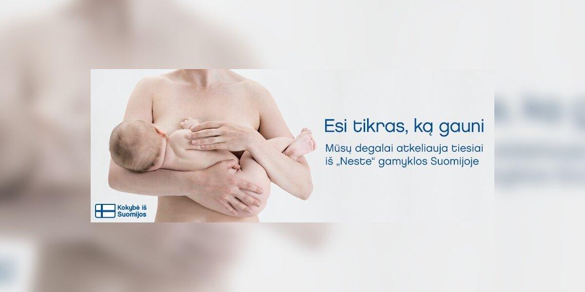 """""""Neste"""" reklamoje kuras prilygintas mamos pienui"""