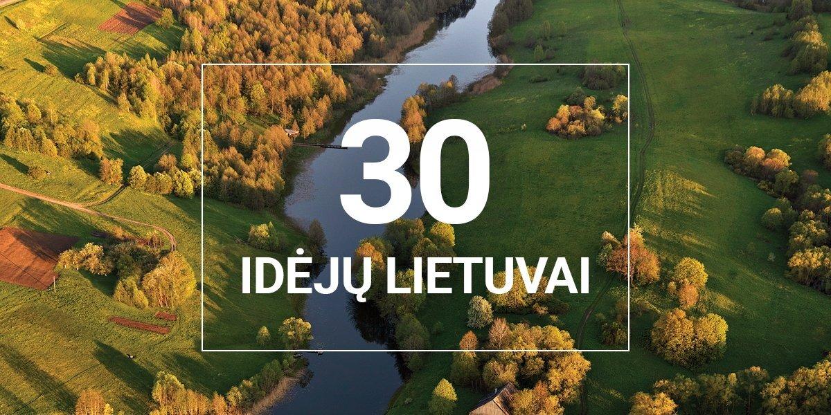 Skelbiama 30 atrinktų idėjų Lietuvai