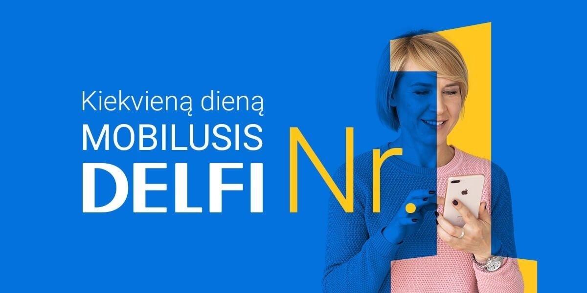 DELFI mobiliuosiuose įrenginiuose pirmauja kiekvieną dieną