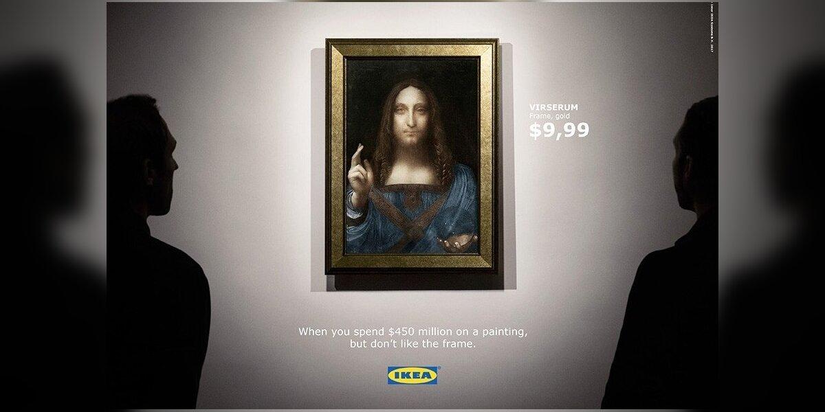 """""""Ikea"""" šmaikščiai sureagavo į brangiausiai pasaulyje parduotą paveikslą"""