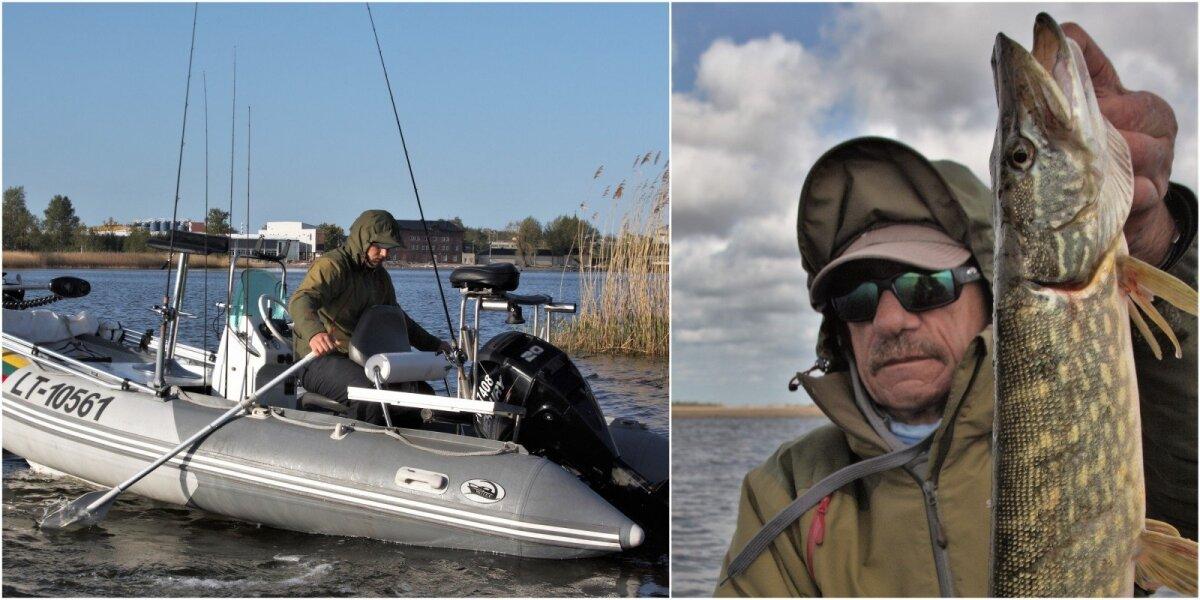 Akimirka iš lydekų žūklės Liepojos ežere